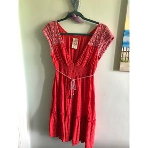 Free People Coral Summer Boho Dress